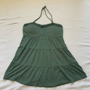 Olive green strapless top